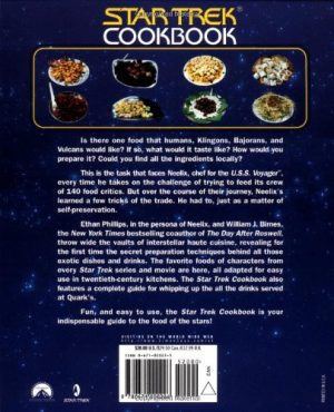 Back Cover of The Star Trek Cookbook